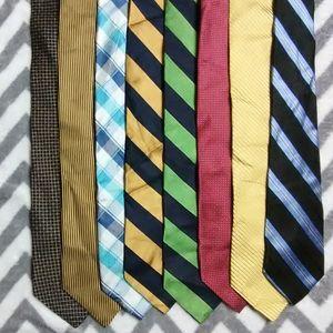Nautica 8 Tie Lot 100% Silk